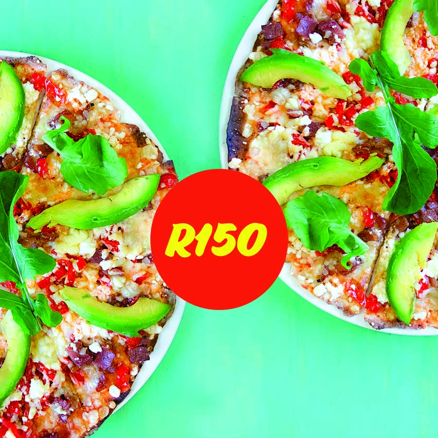 Wednesday 2 Pizzas for R150 Special